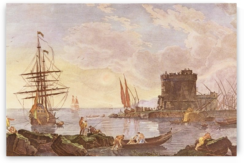 View of Italian port by Claude-Joseph Vernet