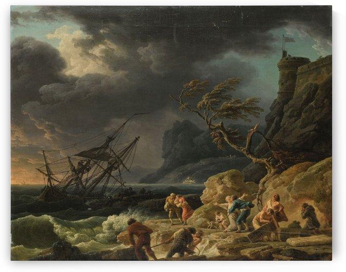 Le naufrage by Claude-Joseph Vernet