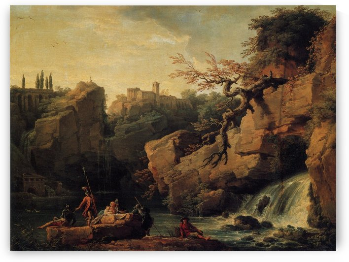 Romantic Landscape by Claude-Joseph Vernet