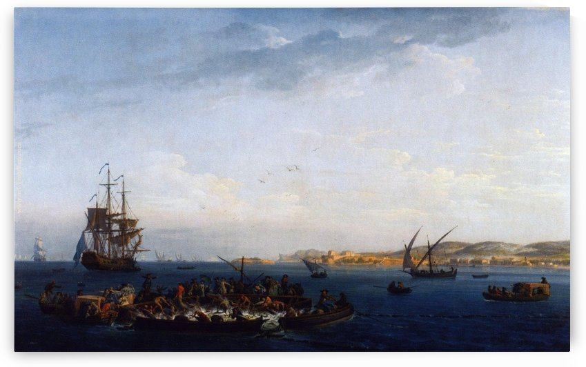 View of the Gulf of Bandol tuna by Claude-Joseph Vernet