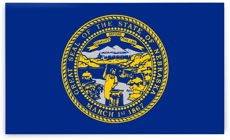 Nebraska State Flag by Fun With Flags