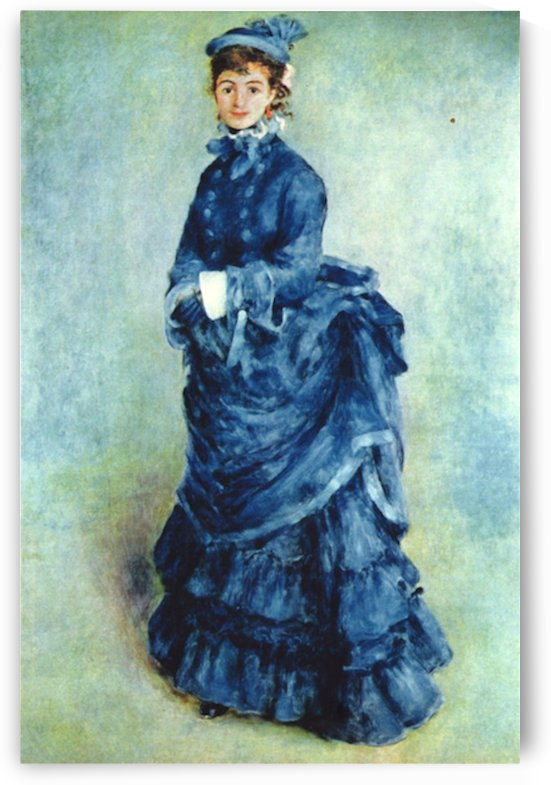 Paris girl the lady in blue by