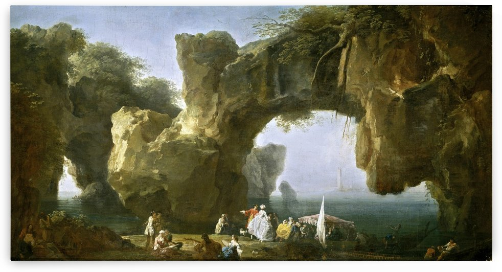 Marina - vista de Sorrento by Claude-Joseph Vernet