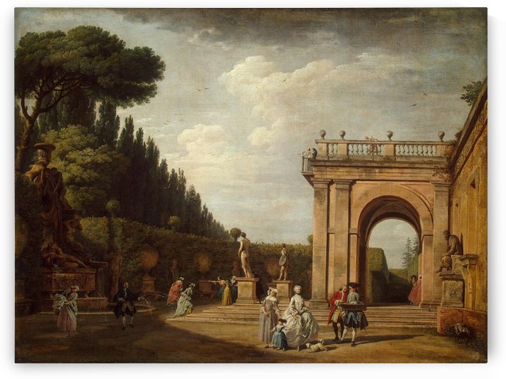 View of the Villa Ludovisi Park in Rome by Claude-Joseph Vernet