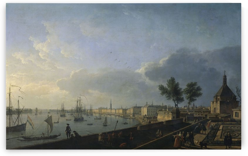Second view of the port of Bordeaux, seen from Chateau Trompette by Claude-Joseph Vernet