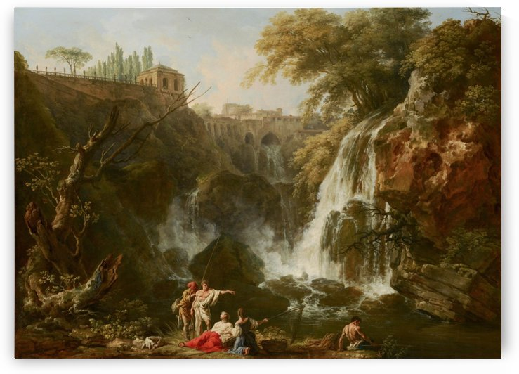 The Waterfall at Tivoli by Claude-Joseph Vernet