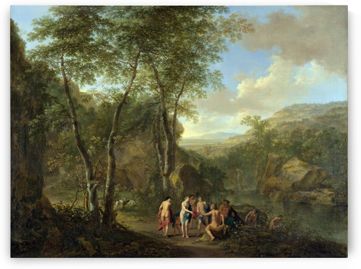 A Sea-Shore by Claude-Joseph Vernet