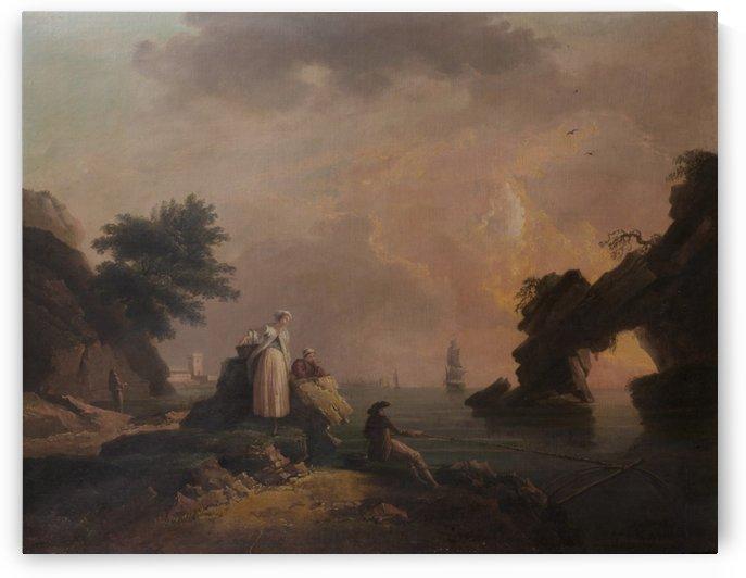 Les Pecheurs fortunes by Claude-Joseph Vernet