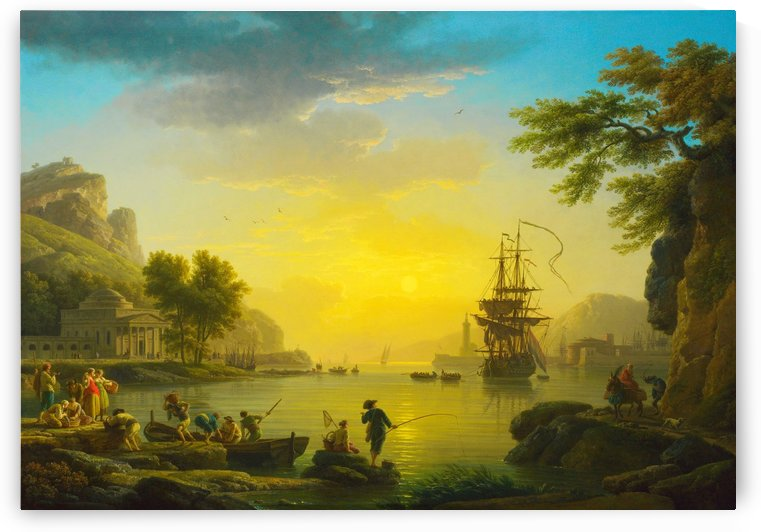 A Landscape at Sunsetlight by Claude-Joseph Vernet