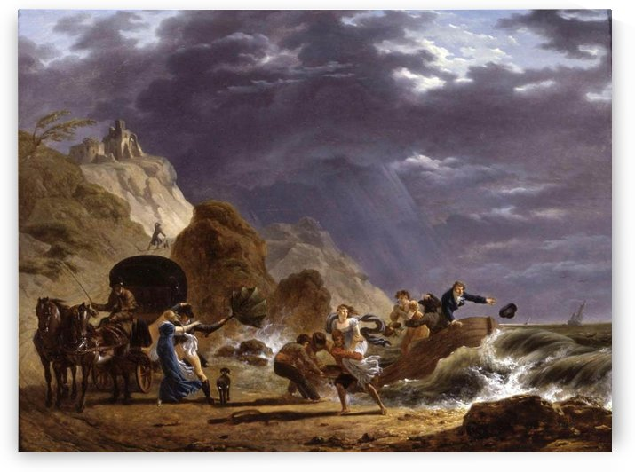 Arrival of Emigres with the Duchess of Berry on the French Coast by Claude-Joseph Vernet