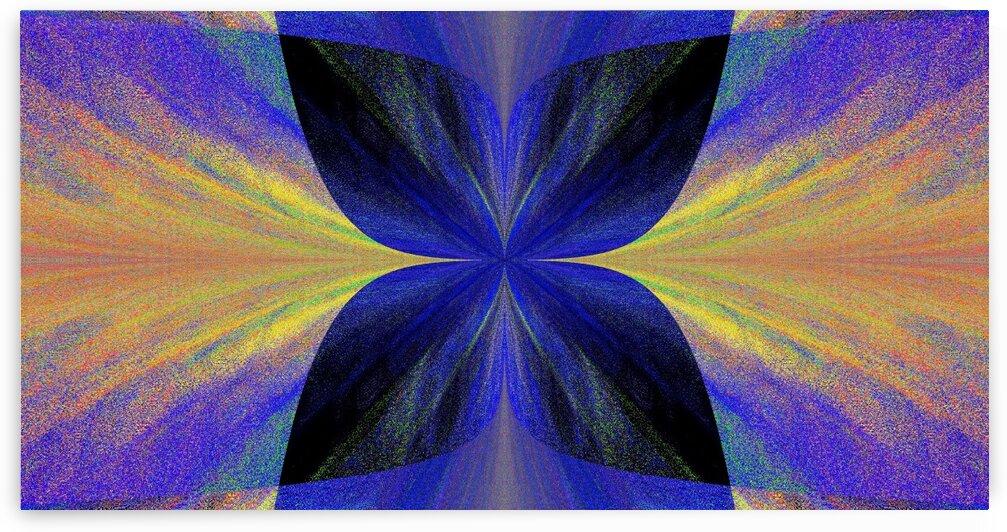 Blue Butterfly In Golden Light by Sherrie Larch