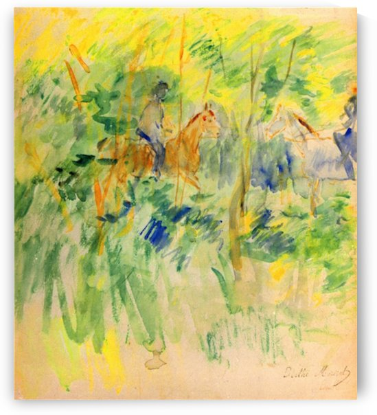 Path in Bois de Boulogne by Morisot by Morisot