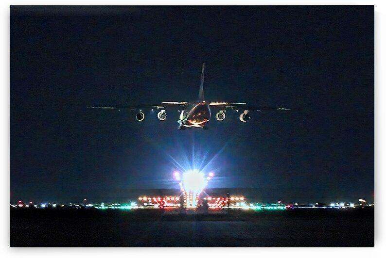 Antonov An-124 Night Arrival at YWG by Jonathan Kozub