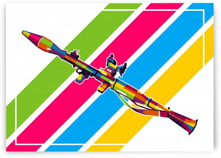 RPG-7 Bazooka Pop Art by wpaprint