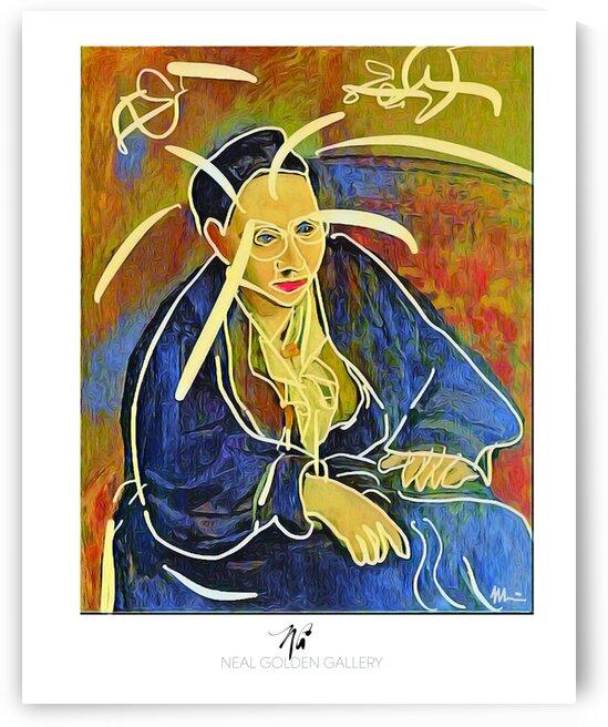 Picasso Gertrued Stein 206 by Neal Golden