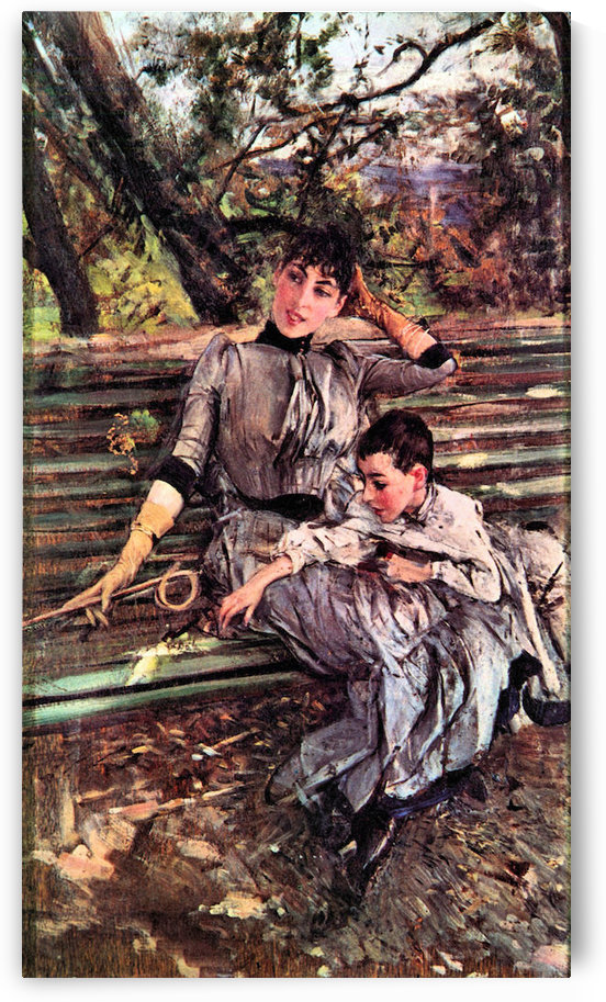 In the garden by Giovanni Boldini by Giovanni Boldini