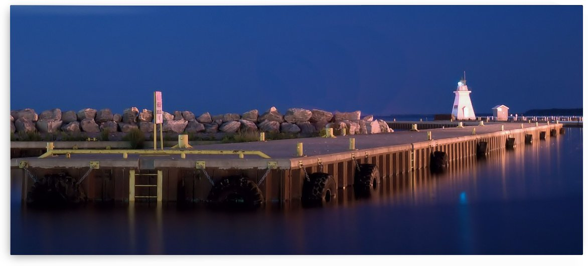 Dover Pier at Night. by Tracy Bennett