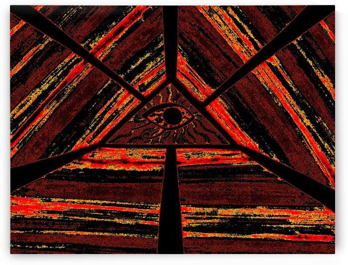 Eye Of Horus: Ancient Golden Orange Light 2 by Sherrie Larch