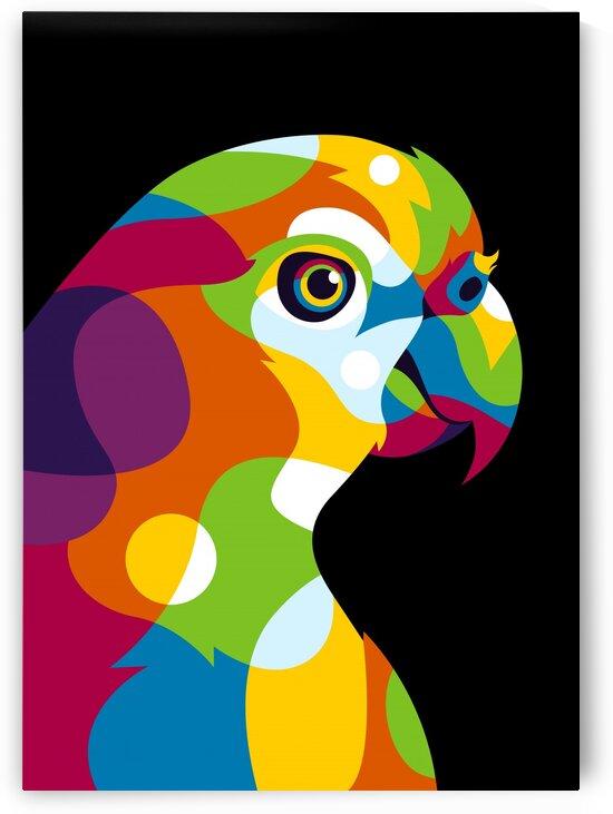 Colorful Parrot Pop Art by wpaprint