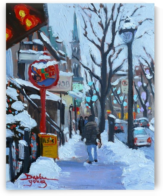 Montreal Winter St-Denis by Darlene Young Canadian Artist
