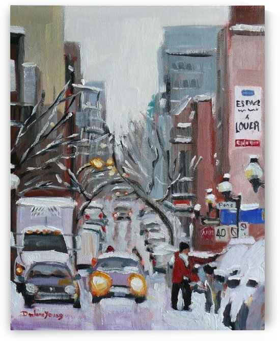 Before the Blizzard, blvd St-Laurent by Darlene Young