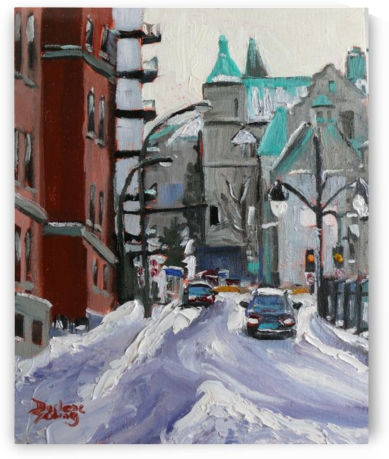 Av des Pins, Montreal Winter Scene by Darlene Young