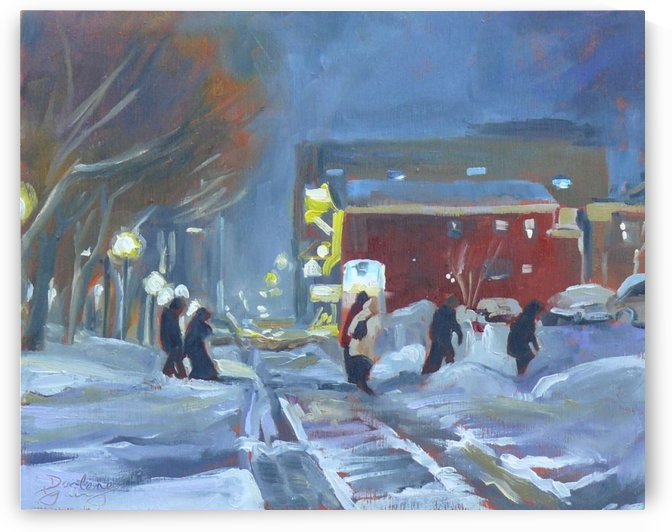 Charlottetown Winter Evening by Darlene Young Canadian Artist