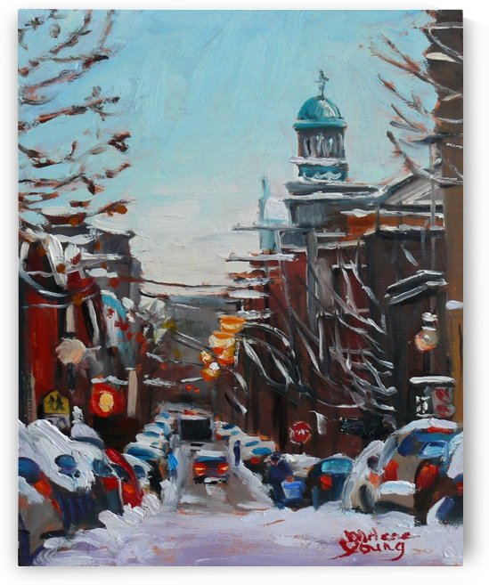 Le Plateau Scene, Winter by Darlene Young