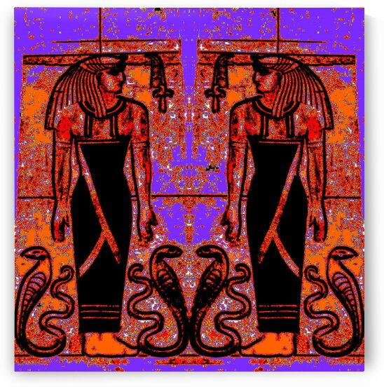 Egyptian Priests And Snakes In Garden 1 by Sherrie Larch