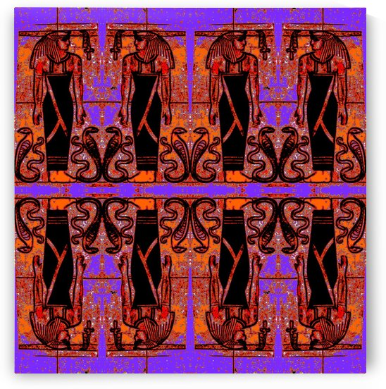 Egyptian Priests And Snakes In Garden 2 by Sherrie Larch