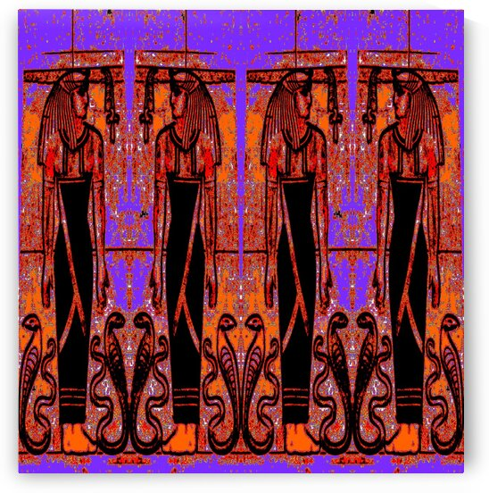 Egyptian Priests And Snakes In Garden 3 by Sherrie Larch