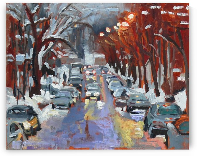 Av du la Musee, Montreal Winter Scene by Darlene Young