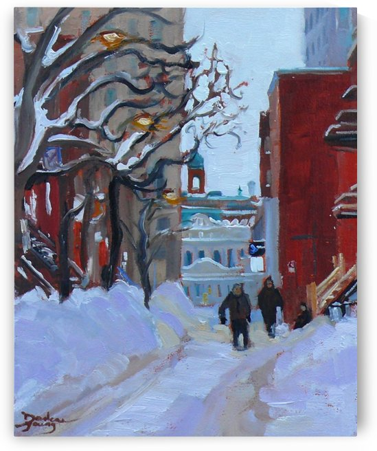 Montreal Winter Near UQAM by Darlene Young