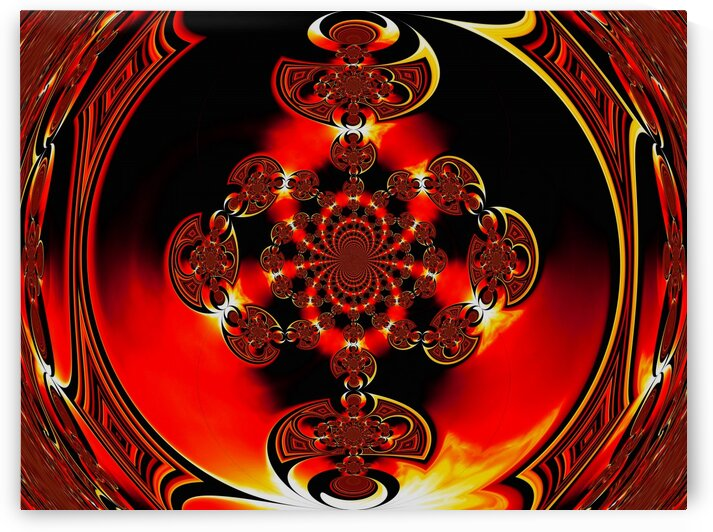 Viking Fire Warrior Scarab Mandala 1 by Sherrie Larch