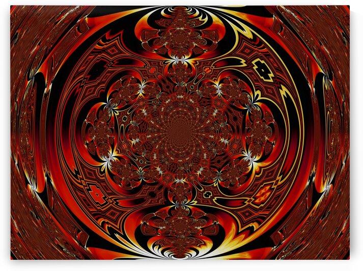 Viking Fire Warrior Scarab Mandala 5 by Sherrie Larch