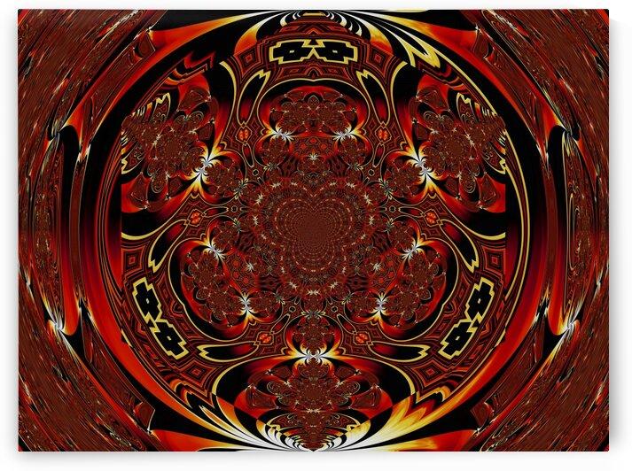 Viking Fire Warrior Scarab Mandala 7 by Sherrie Larch