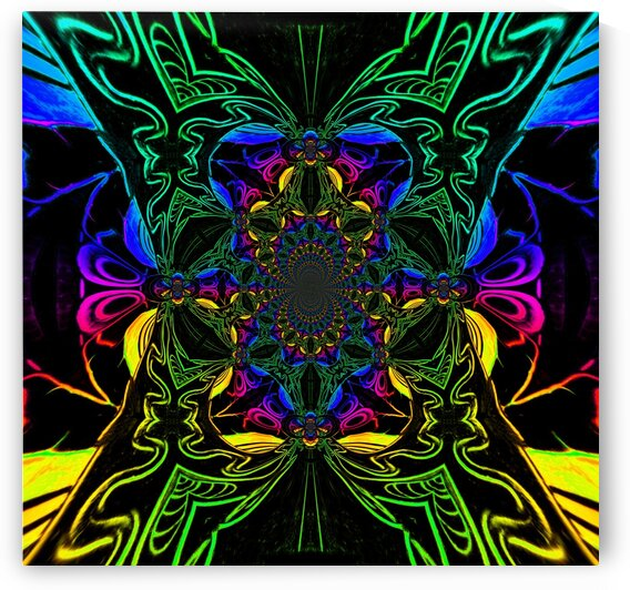 Rainbow Butterfly Scarab 2 by Sherrie Larch