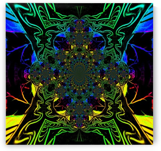 Rainbow Butterfly Scarab 4 by Sherrie Larch