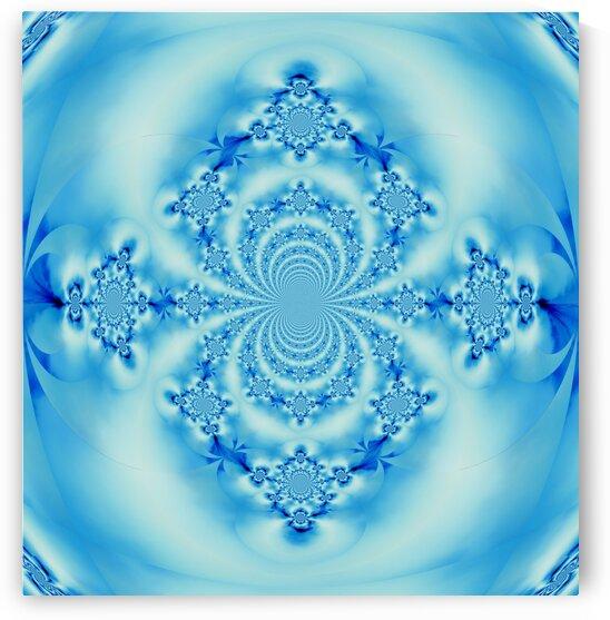 Sky Blue Scarab Mandala by Sherrie Larch