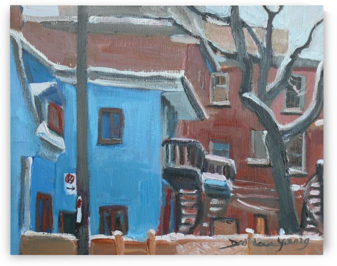 The Blue House, McGill Ghetto Scene by Darlene Young