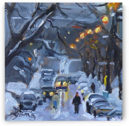 Ave du Musee, Montreal Winter Scene by Darlene Young
