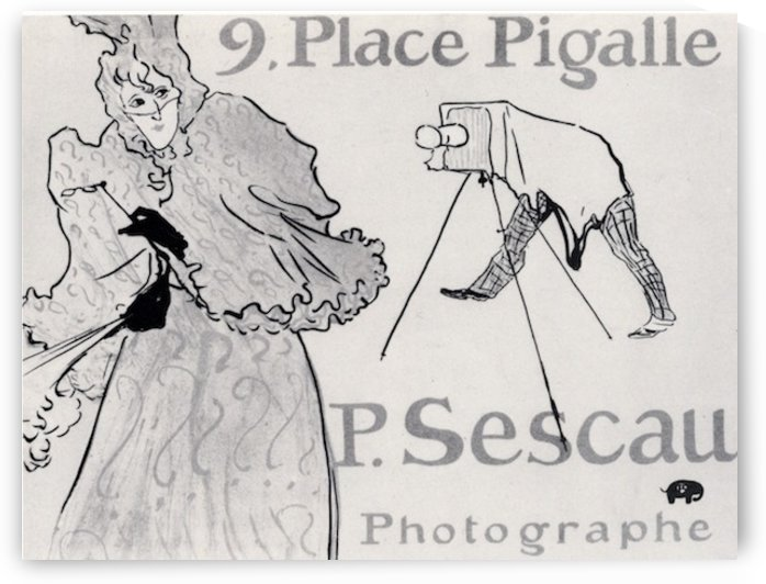 Photorapher Sescau by Toulouse-Lautrec by Toulouse-Lautrec