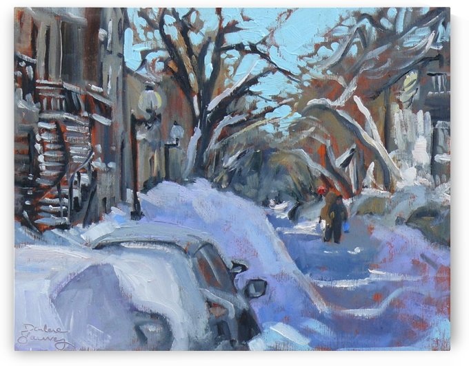 Montreal Winter Scene by Darlene Young