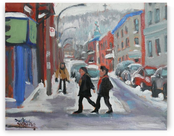 Montreal Winter Scene, Le Plateau by Darlene Young