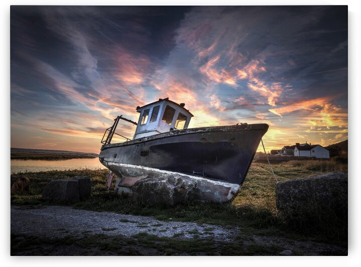 The old fishing boat by Leighton Collins