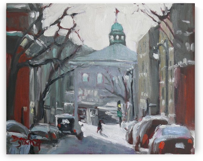 McGill University, Montreal Winter Scene by Darlene Young