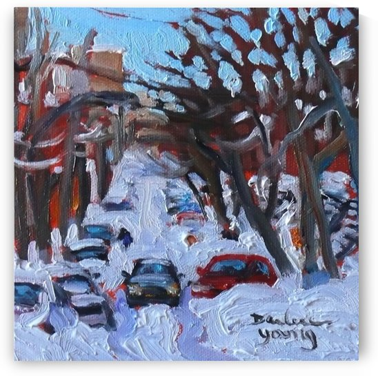 Montreal Est, Winter Scene by Darlene Young Canadian Artist