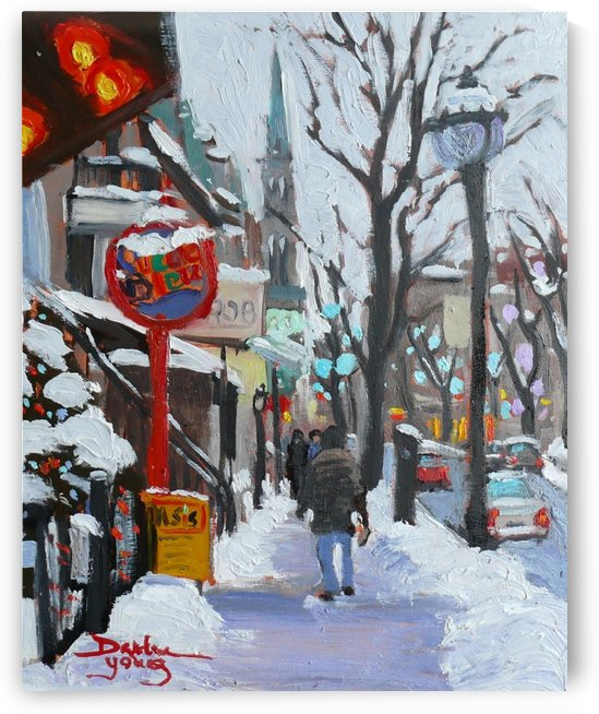 Montreal Winter Scene, St- Denis by Darlene Young