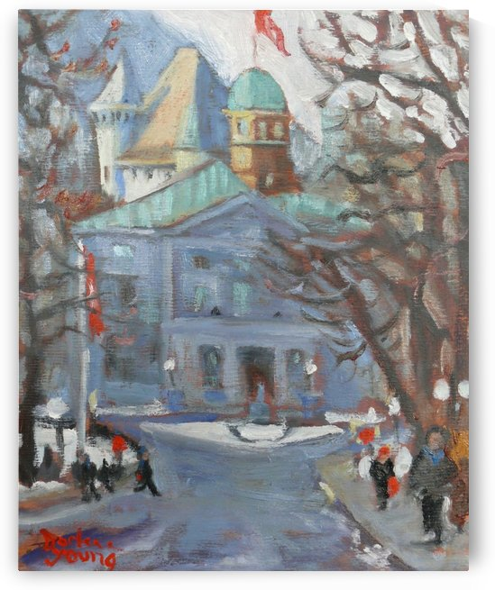 McGill Front Entrance, Montreal Winter Scene by Darlene Young