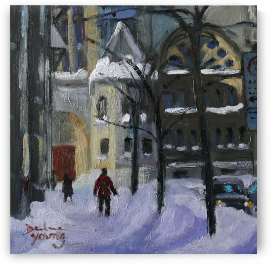 Montreal Downtown Scene, Drummond Winter by Darlene Young